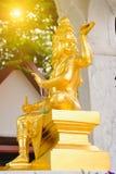 印度上帝Brahma雕象在泰国 免版税库存照片