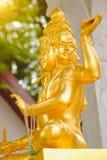 印度上帝Brahma雕象在泰国 免版税库存图片