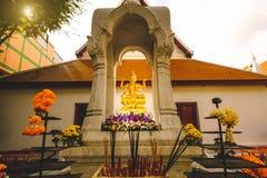 印度上帝Brahma雕象在泰国 图库摄影