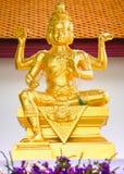 印度上帝Brahma雕象在泰国 免版税图库摄影
