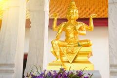 印度上帝Brahma雕象在泰国 库存照片