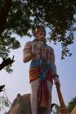 印度上帝Hanuman巨大的雕象在Agroha Dham,非常著名印度寺庙在Agroha,哈里亚纳邦,印度 库存图片