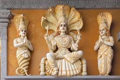 印度上帝Patanjali雕象 免版税库存照片