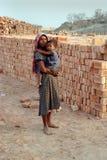 印度人工妇女 库存照片