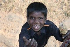 印度人贫寒 库存图片