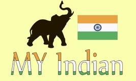 印度传染媒介例证 库存图片