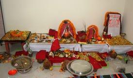 印度传统puja的Kalash 图库摄影
