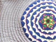 印度传统手被绣的片断 免版税库存图片