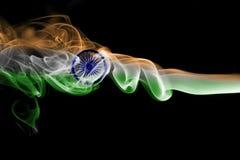印度全国烟旗子 免版税库存图片
