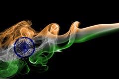 印度全国烟旗子 免版税库存照片