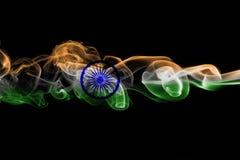 印度全国烟旗子 库存图片