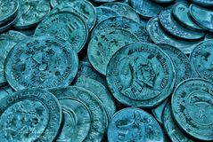 印度卢比硬币 库存图片