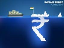 印度卢比金钱价值构思设计 免版税库存图片