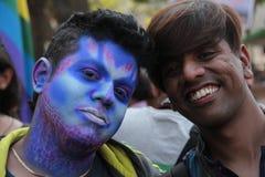 印度同性恋自豪日游行 图库摄影