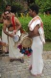 印度喀拉拉音乐家婚礼 免版税图库摄影