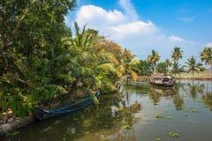 死水印度喀拉拉 库存照片