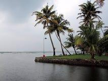 死水印度喀拉拉 免版税图库摄影
