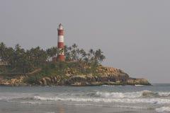 印度喀拉拉kovalam灯塔 库存图片