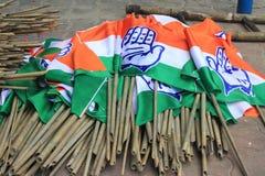 印度国民大会党旗子 免版税库存照片