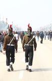 印度士兵乘共和国天Parade2014的机会在新德里,印度 库存照片