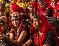 印度女孩在普斯赫卡尔 图库摄影