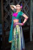 印度女孩 免版税图库摄影