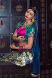 印度女孩 免版税库存照片