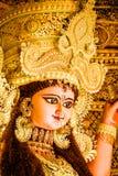 印度女神Jagadhatri神象画象在Jagadhatri Puja庆祝时 库存照片