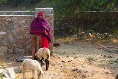 印度妇女赛跑 图库摄影
