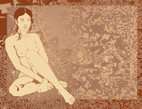印度妇女年轻人 免版税库存图片