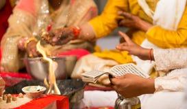 印度婚姻的印度 库存照片