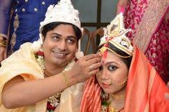 印度婚姻 免版税库存照片