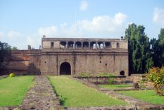 印度宫殿pune shaniwar wada 免版税库存照片