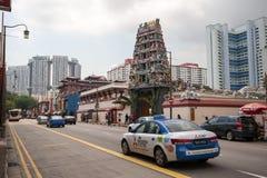 印度寺庙在新加坡唐人街区  库存图片