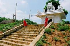 印度寺庙在村庄 免版税图库摄影