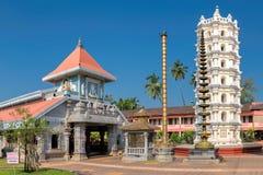 印度寺庙在波恩达,果阿,印度 免版税图库摄影