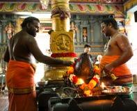 印度寺庙在维多利亚Mahe塞舌尔群岛 免版税图库摄影