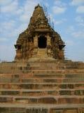 印度寺庙在Kajuraho 库存照片
