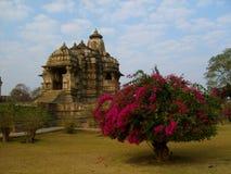印度寺庙在Kajuraho 库存图片
