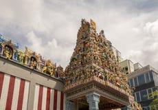 印度寺庙屋顶 免版税库存照片