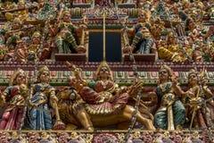 印度寺庙屋顶 免版税库存图片