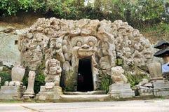印度寺庙果阿Gajah, Ubud,巴厘岛,印度尼西亚 免版税库存图片