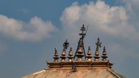 印度寺庙的石峰 库存图片