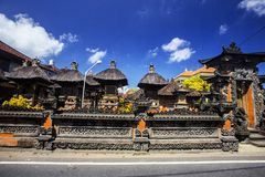 印度寺庙的鬼魂房子,巴厘岛印度尼西亚 免版税库存图片