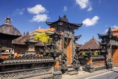 印度寺庙的鬼魂房子,巴厘岛印度尼西亚 库存图片