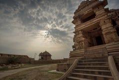 印度寺庙,瓜廖尔,印度 免版税库存图片