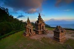 印度寺庙Gedongsongo在爪哇中部 库存图片