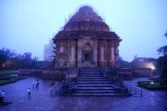 印度将军konark计划端星期日寺庙视图 免版税库存图片