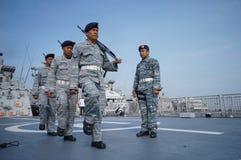 印度尼西亚东部海军a周年仪式  K Koarmatim在苏拉巴亚,东爪哇省,印度尼西亚 图库摄影