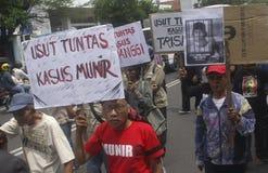 印度尼西亚人权挑战 库存图片